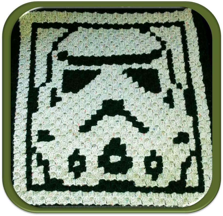 Snap Items Similar To Star Afghan Crochet Graph Pattern Chart Stitch Diagram Patterns Diagrams Updated Version Wars Stormtrooper Motif