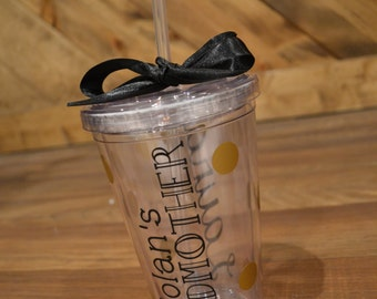 GODMOTHER Tumbler // 16oz Acrylic Double-Walled Tumbler // Custom Colors & Personalization Available