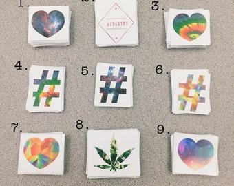 Instagram Heart, Hashtag, Trippy, Stoner, Galaxy Stickers