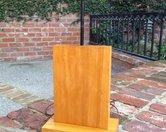 Mid Century Modern Maple Table Lamp