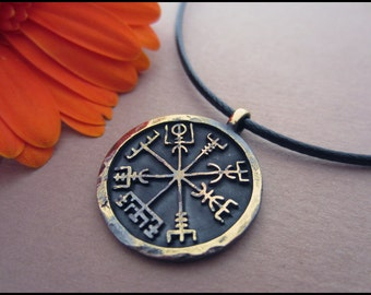 Viking Norse Vegvisir Compass Pendant Jewelry