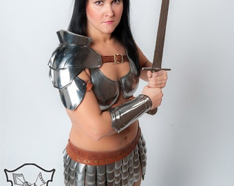 "Gladiator  female bracer  ""Princess of warrior"", larp, fantasy, cosplay women armor"
