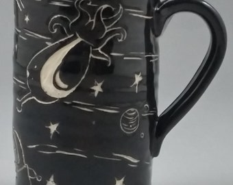 Handmade Space Alien Mug