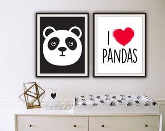 Panda room decor etsy for Decor y8