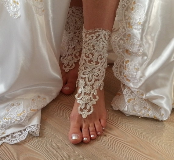 beach wedding lace sandals