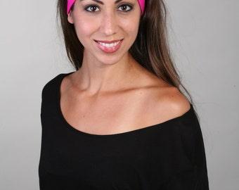 Yoga Headband, Fitness Headband, Workout Headband, Running Headband, Non-Slip Headband - Headband in Bubble Gum Pink