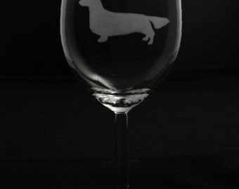 Longhaired Dachshund Wine Glass