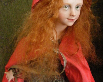 Anna BRAHMS One of a Kind Sculpture ART DOLL Little Red Cape
