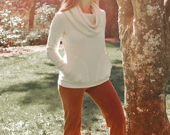 Hemp and Organic Cotton Regular Length Cowl Sweatshirt
