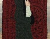 Belsnickle Santa Hooked Rug