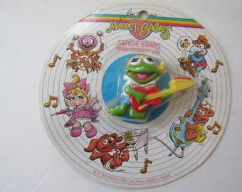 Vintage 1988 Avon Muppet Babies Stage Stars Baby Kermit Pin New Rare