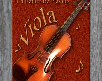 Mouse Pad - I'd Rather Be Playing Viola