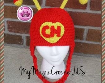 El Chapulin Colorado Crochet Hat Made with Soft yarn