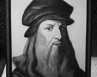 Leonardo Da Vinci Original framed drawing