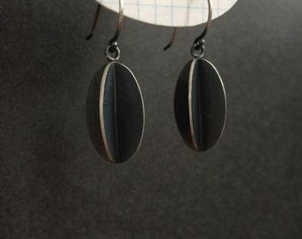 Oxidized Silver Gooseberry Drop Earrings