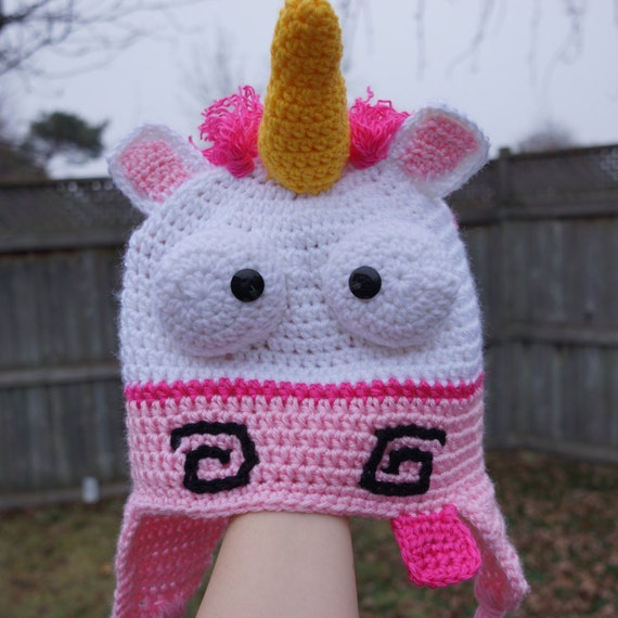 Crochet Pattern For A Unicorn Hat : Crochet Unicorn hat despicable me unicorn hat by HookersPalace