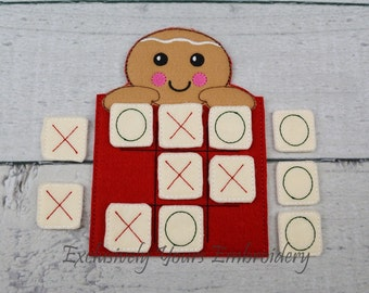 Gingerbread Tic Tac Toe Game