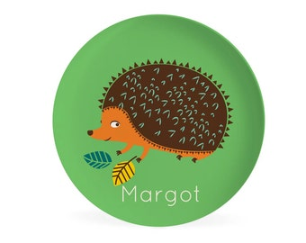 KIDS PLATE - Personalized Hedgehog Dish for kids