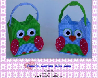 Spring Owl Gift Bags/Easter-Plastic Canvas Pattern-PDF Download