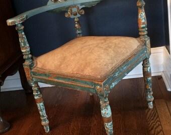 Antique 'Roundabout' Corner Chair