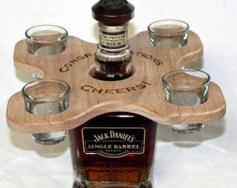 Shot Glass Rack - Holds 4 shots