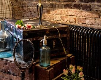 Restaurant Decor, Stained Glass, Art Deco Lamp, Vintage Lamp, Retro Lamp, Table Lamp, Retro Lighting, Desk Lamp, Cafe Lights