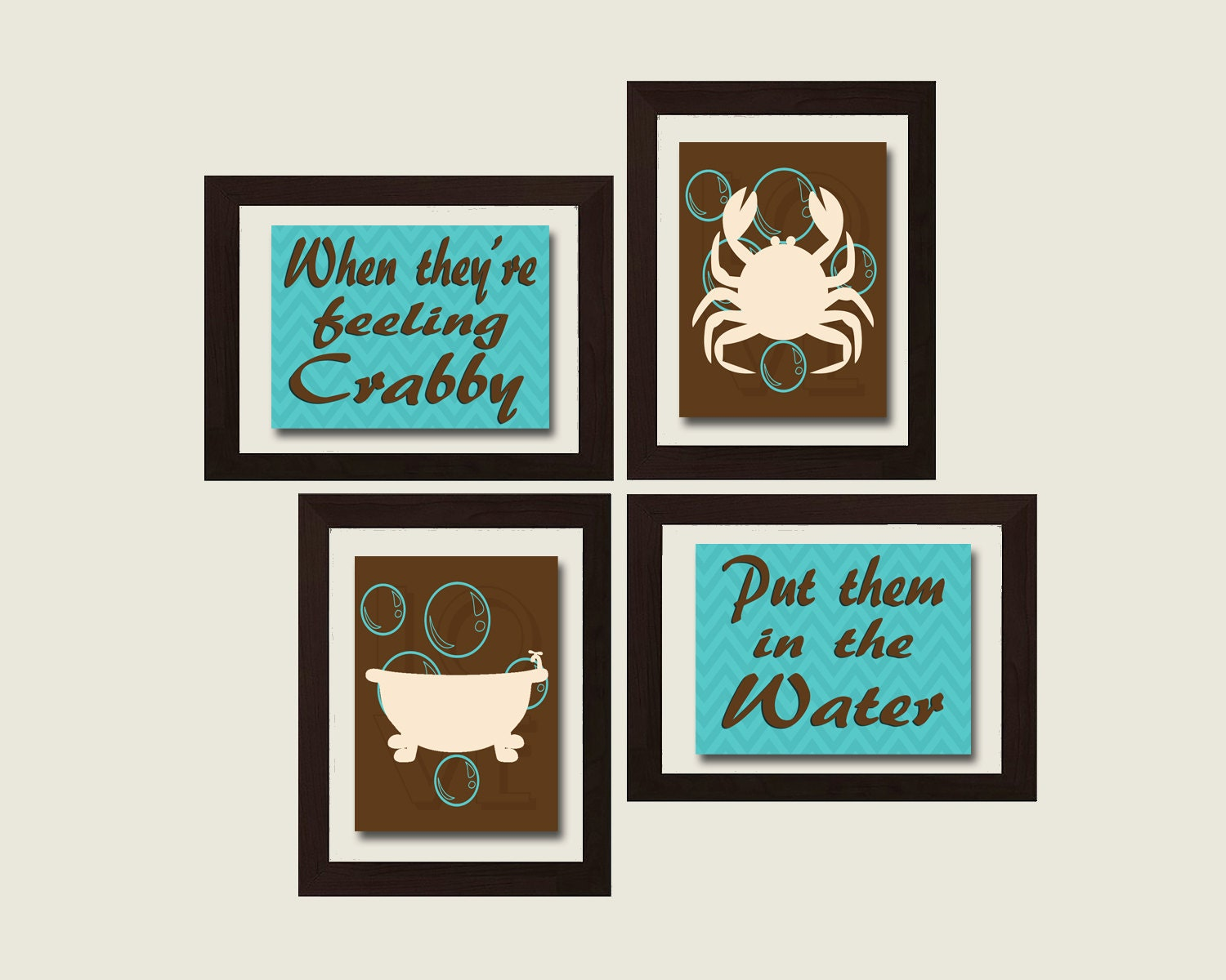 Crab decor boys bathroom wall art boy bathroom decor for Boys wall art