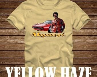 MAGNUM P.I. Ferrari Tshirt - Adult sizes - fun 80s Tv Tom Selleck pi -425
