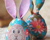 Pair rabbits Easter Bunny Toy Stuffed Rabbit Egg Easter decor Easter Basket Toy Kids Easter Toy