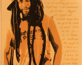 Steel Pulse. David Hinds. Screen Print Poster. Limited Edition. Signed and Numbered. 8 X 10.