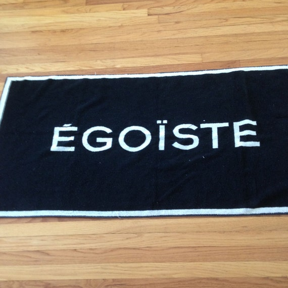 Chanel Towel: Chanel EGOISTE Promotional Beach Towel 90s Sale