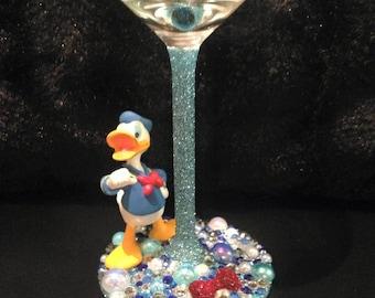 Donald Duck Character Wine Glass