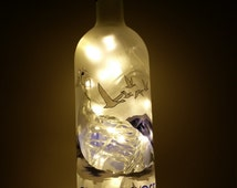 Grey Goose Vodka Bottle High Quality Upcycled Lamp - 40 Warm White LED Lights