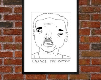 Badly Drawn Chance the Rapper - Hip Hop Poster
