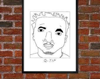 Badly Drawn Q-Tip (A Tribe Called Quest)- Hip Hop Poster