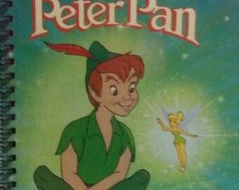 Golden Book Notebook - Vintage Peter Pan - A5 Rebound Journal