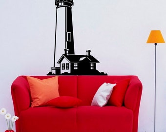 Lighthouse Wall Decal Wall Vinyl Sticker Nautical Ocean Home Interior Removable Bedroom Decor (4lhs)