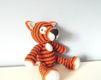 Crochet tiger doll toy Amigurumi Tiger stuffed animal Kids toys Baby Home decor Crochet animals Gift ideas Plush Wild animals Boys