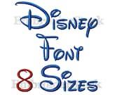 Walt Disney Font Machine Embroidery Design Alphbet Disney Embroidery Font Design Fonts For Embroidery