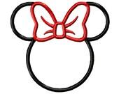 5 Sizes Minnie Mouse Applique Design Disney Design Minnie Mouse Embroidery Design Head Applique Machine Embroidery Design - 5 Sizes