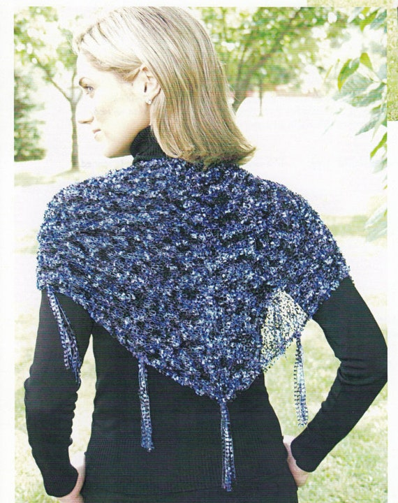 Triangle Scarf Knitting Patterns - Knitted Shawl Patterns - Hand Knit Scarf S...