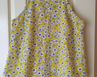 SecondSeason's Preloved Women's Top- Yellow Patterned Floral