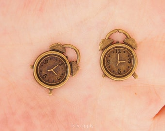 10pcs 18*14mm Antique Bronze Clock Charms
