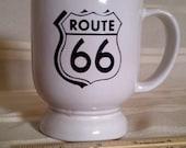 Frankoma C2 Mug. Route 66 Logo. Route 66 Memorabillia. US 66 Memorabillia. US 66 Frankoma Mug. Route 66 Frankoma Cup. Route 66. US 66