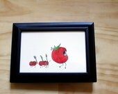 Monster Series - Attack of the Killer tomato - Framed watercolour