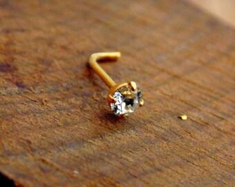 Diamond nose ring // Nose stud // nose studs