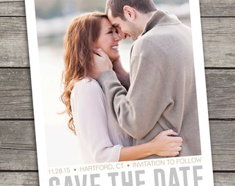 Custom Photo Save The Date - Printable - Digital