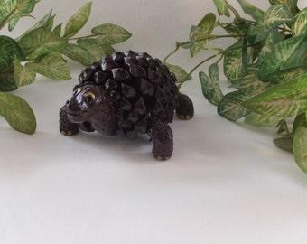 Pine cone, handmade, art, Sculpture,Turtle , clay, Home décor, Eco friend,  Sculptures from nature,Unique item,Pinecones