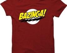 BAZINGA Popular Tv Show T Shirt Sheldon Cooper Funny Mens Gift Shirt Smart T-shirt