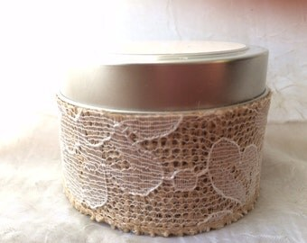 Gorgeous Tin Natural Soy Candle Favors *50% OFF on bulk orders of 25 candles or more*